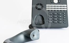 voip phone isolated on grey background