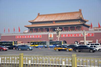 Mao at Tiananmen Square