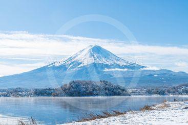 Mountain Fuji San at  Kawaguchiko Lake.