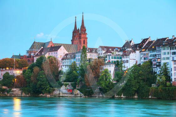 Basel cityscape in Switzerland