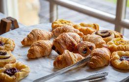 Variety of breakfast pastries