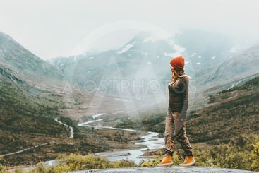 woman traveling in Norway