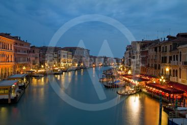 Scenic view over Grand canal, Venice.