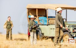 Family safari vacation