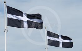 Two Cornish flags of St Piran