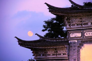 Chinese architecture, the carving roof