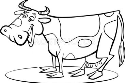 Cartoon cow coloring page