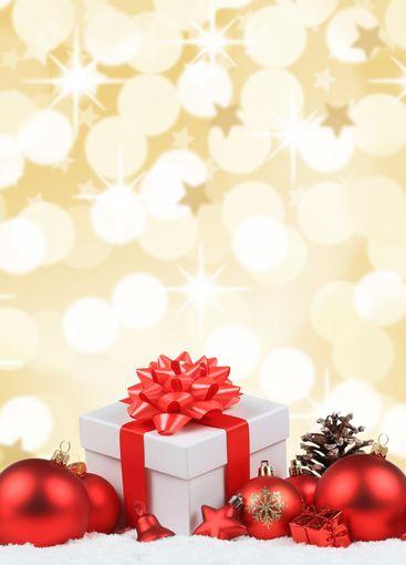 Christmas gifts presents balls decoration golden...