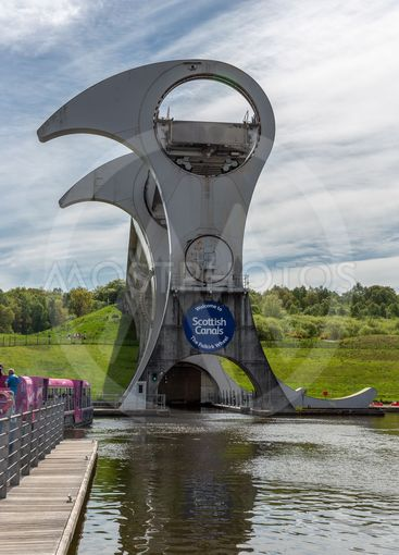 Falkirk Wheel, rotating boat lift in Falkirk, Scotland