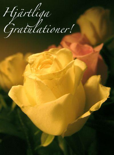 Hjärtliga Gratulationer!