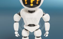 robot with question marks