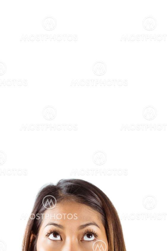 Half face of beautiful asian woman