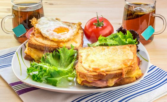 French breakfast for two people