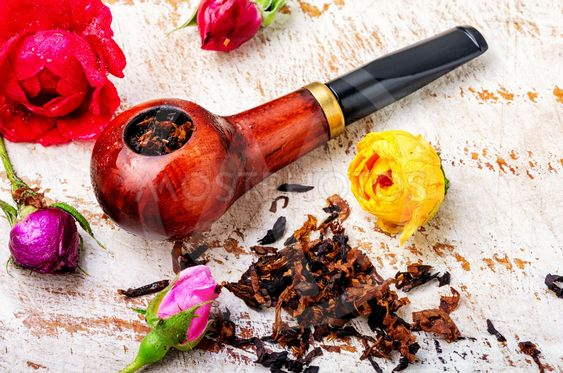 Smoking pipe and floral tobacco