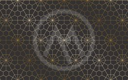 Vector geometric art deco stylish pattern - seamless...