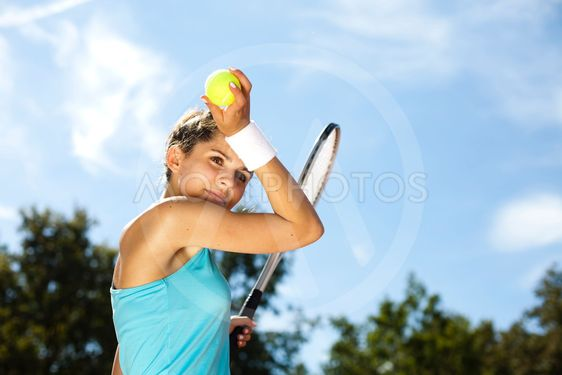 Playing Tennis, summertime saturated theme