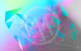 Beautiful, modern, polygonal, triangles brght artistic...
