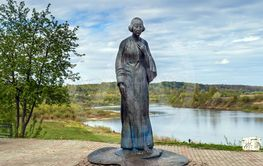 Monument to Marina Tsvetaeva, Tarusa, Russia