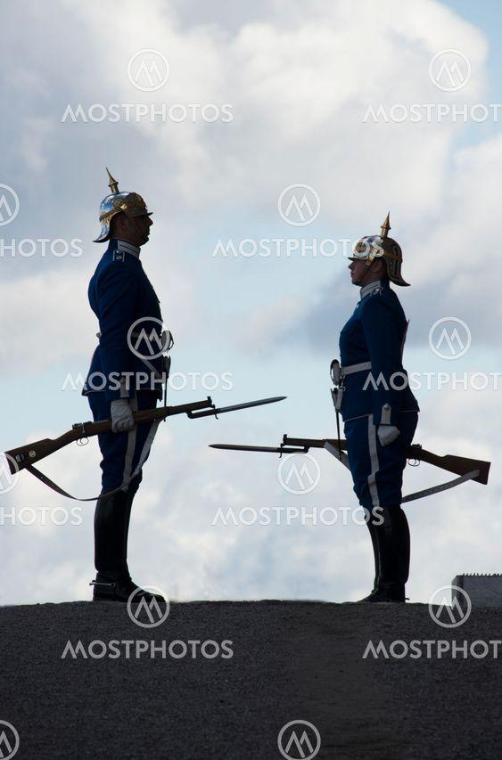 avlösning av vaktpost vid Stockholm slott