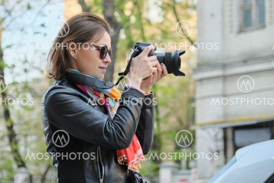 Mature Woman With Photo Cam By Vh Studio Mostphotos