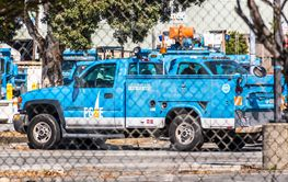 August 19, 2019 San Mateo / CA / USA - PG&E (Pacific Gas...
