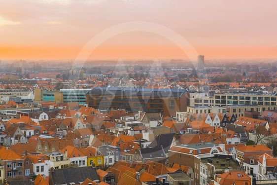 city skyline of Vlissingen at sunset, a popular city at...