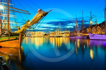 Sailing ships in harbor during the tall ships races