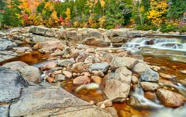 Swift River cascades at autumn, New Hampshire, USA