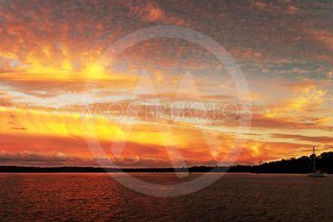 Colourful Lake Sunset at Lake Macquarie.