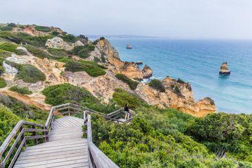 Beach near Lagos, Algarve in Portugal