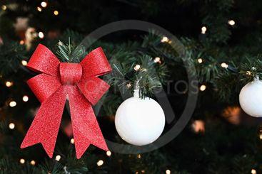 Beautiful colorful Christmas decorations. Christmas tree...