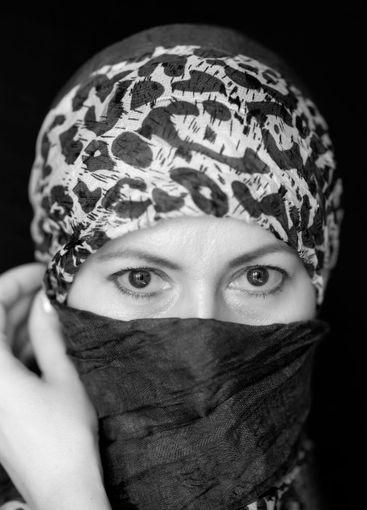 Scarf face mask. Coronavirus 2020