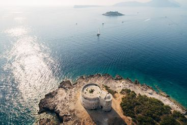 Fort Arza in the Bay of Kotor in Montenegro, in the...