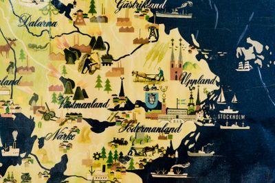 Gammal karta över mellansverige