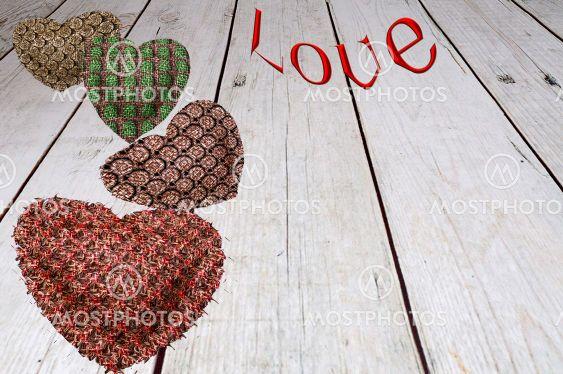 Card design. Love symbol. Valentine's Day concept.