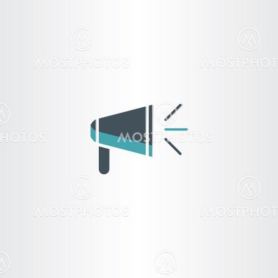flat megaphone icon vector