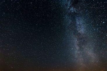 Starry sky, milky way, beautiful landscape, night time,...