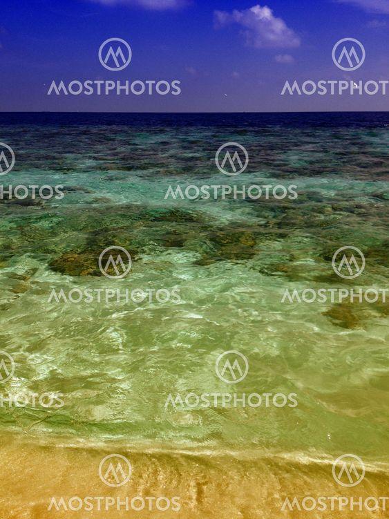 Farverne på Maldiverne farvande