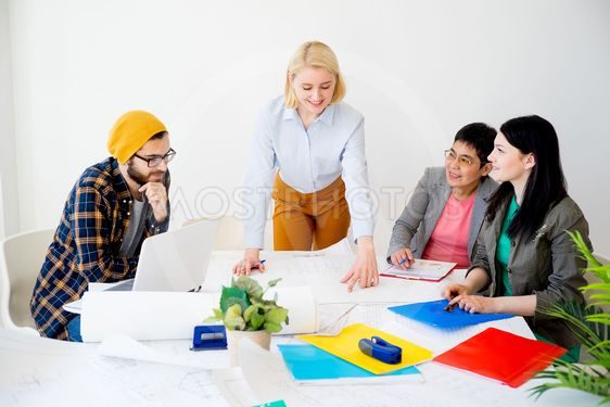 People working on a startup