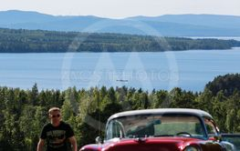 Big Lake Run. Classic car.