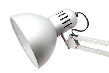 table lamp on white