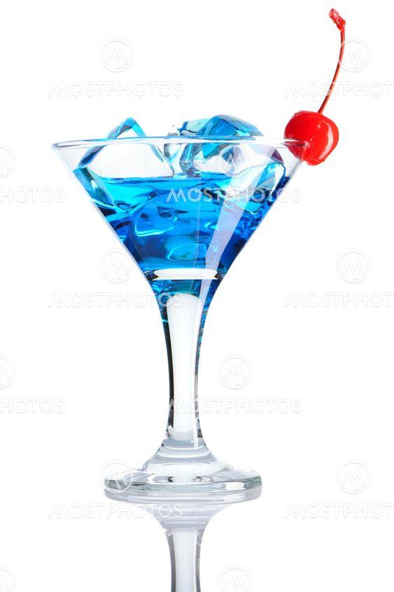 Blå Curacao cocktail