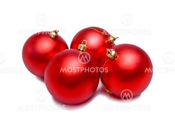 Punainen joulua pallot