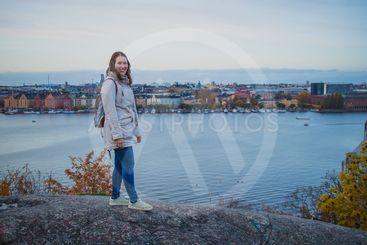 Woman posing on Skinnarviksberget