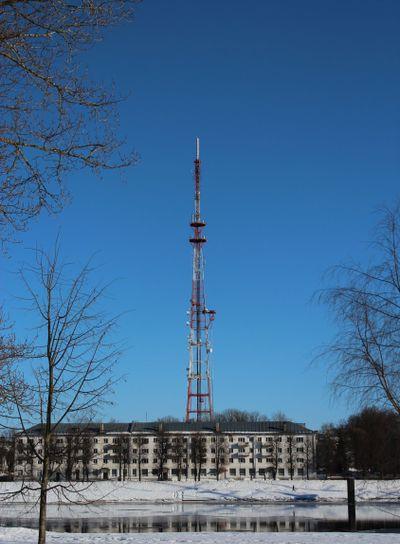 Novgorod Kremlin , brick , tower,  winter, sunny day,...
