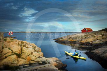 kayaking in south Sweden