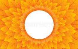 abstract nature orange circular background
