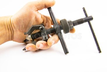 Bearing puller isolated on white background