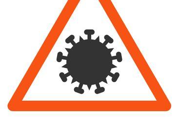Raster Flat SARS Virus Warning Icon