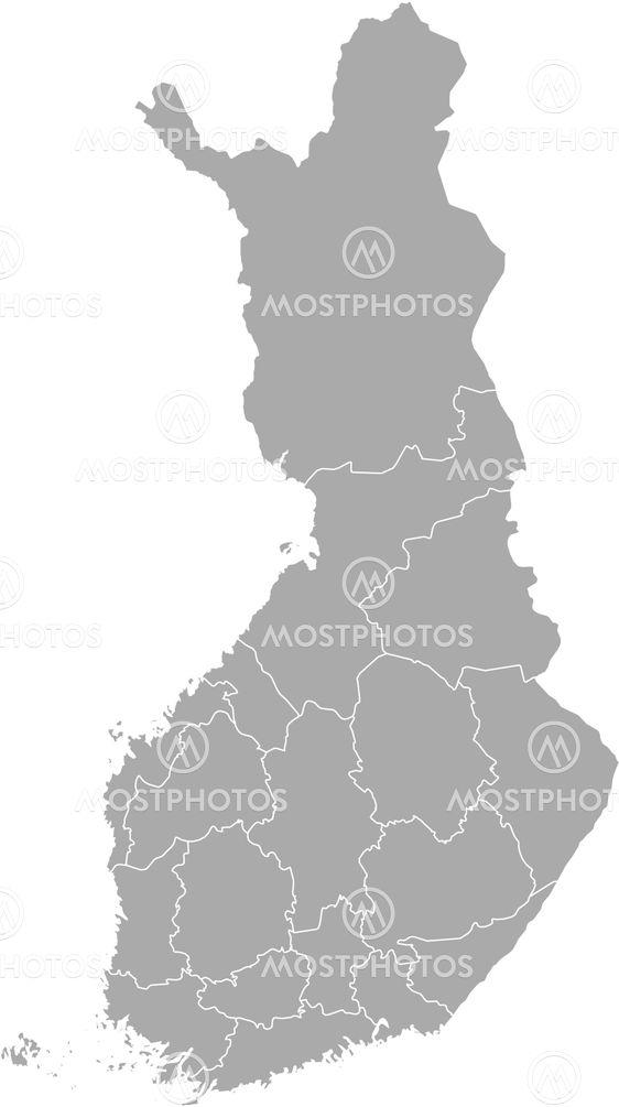 Map Of Finland By Steffen Hammer Mostphotos
